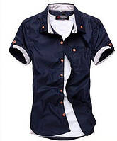 Мужская стильная рубашка с коротким рукавом