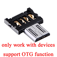 OTG кабель micro USB, Переходник Micro USB на USB кабель OTG для планшета, телефона, с Micro-USB на USB
