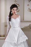 Необычное свадебное платье с пристебающейся юбкой
