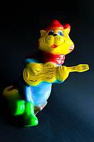 Копилка Кот с гитарой, флок
