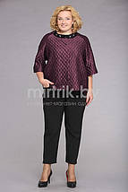 """Женский костюм """"Мишель Шик"""" 52,54рр костюмная ткань бордо, фото 3"""