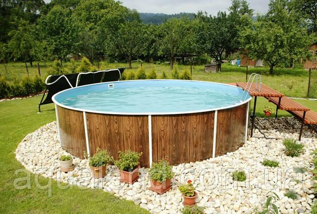 Сборно-щитовой морозоустойчивый бассейн AZURO диам.6,4м, высотой 1,2м Mountfield (Чехия) без оборудования