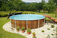 Сборно-щитовой морозоустойчивый бассейн AZURO диам.6,4м, высотой 1,2м Mountfield (Чехия)