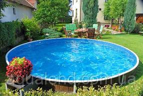 Сборно-щитовой морозоустойчивый бассейн AZURO диам.5,5м, высотой 1,2м Mountfield (Чехия), фото 2
