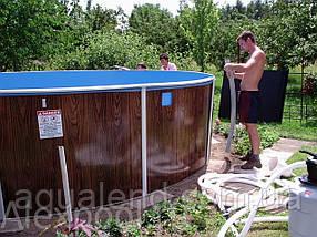 Сборно-щитовой морозоустойчивый бассейн AZURO диам.6,4м, высотой 1,2м Mountfield (Чехия) без оборудования, фото 2
