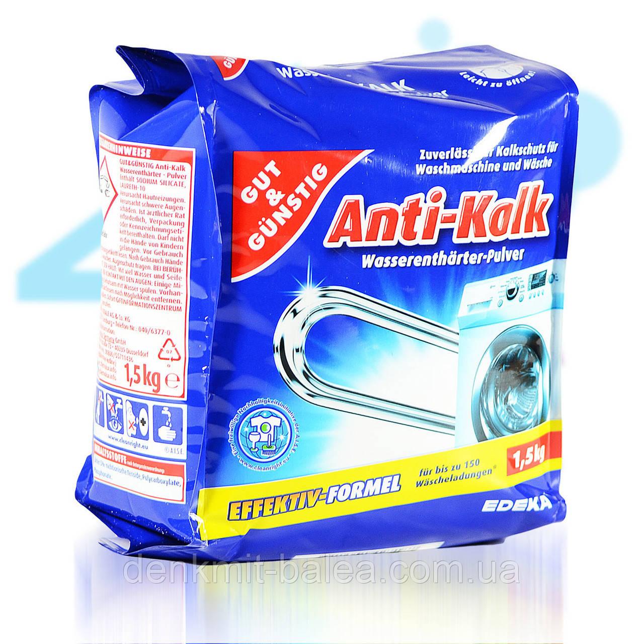 Порошок для очистки стиральных машин от накипи G&G Anti-Kalk  Pulver  1,5 кг.