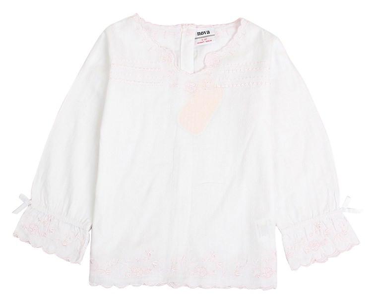 Детская летняя блузка для девочки из натурального хлопка