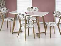 Стол обеденный деревянный FIERO белый/дуб медовый Halmar