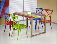 Стол обеденный деревянный GARMIN многоцветный Halmar