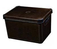 Ящик для хранения 6 л Deco`s STOCKHOLM Leather