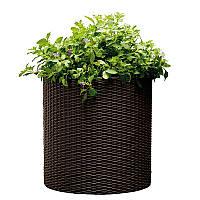 Горшок для цветов Keter Medium Cylinder Planter Коричневый