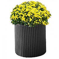 Горшок для цветов Keter Medium Cylinder Planter Серый