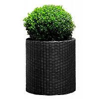 Горшок для цветов Keter Large Cylinder Planter Серый
