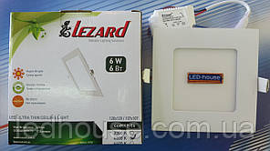 """Светодиодный светильник 6W """"квадрат"""" Lezard 4200K"""