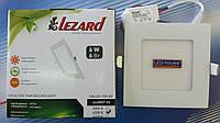 """Светодиодный светильник 6W """"квадрат"""" Lezard 6400K, фото 1"""