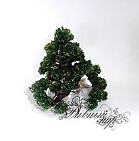 Дерево из бисера Бонсай маленький