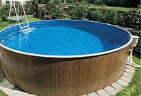 Сборно-щитовой морозоустойчивый бассейн AZURO диам.3,6м, высотой 1,07м Mountfield (Чехия)