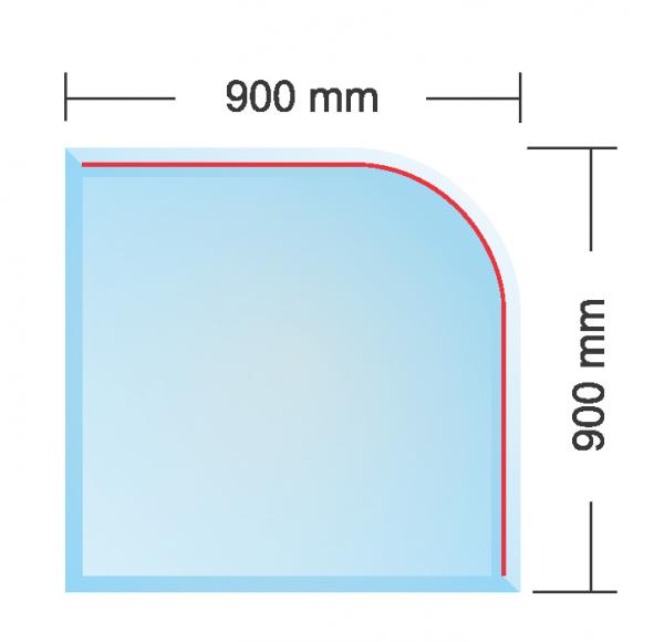 Cтекляное основание PARIS под печь (толщина 6 мм)