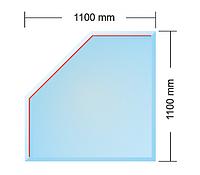 Cтекляное основание  LONDON под печь (толщина 8 мм)