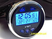 Автомобильные часы термометр вольтметр VST 7042V ВАЗ 2106