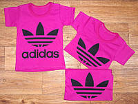 Футболки детские трикотажные Adidas, кулир, размер 86/92,92/100,104/110, 110/116 см, Украина