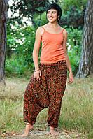 Штаны-алладины Helix оранжево-красные