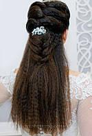 Гребень в причёску с камнями - цветочек 703-2
