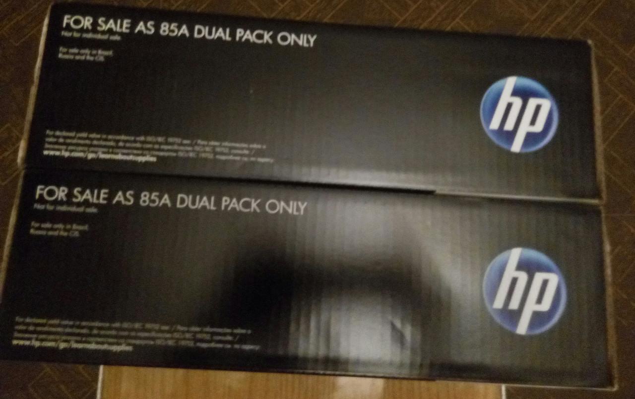 Картриджи HP 85A LaserJet (CE285AF) Dual Pack Black  новые