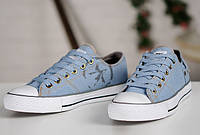 Converse Chuck Taylor Retro Classic Denim Lo Sneakers Light Blue