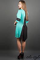 Женское трикотажное платье Джаконда (мята)-осень-весна