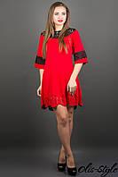 Молодежное трикотажное платье Джаконда (красный)-весна/осень