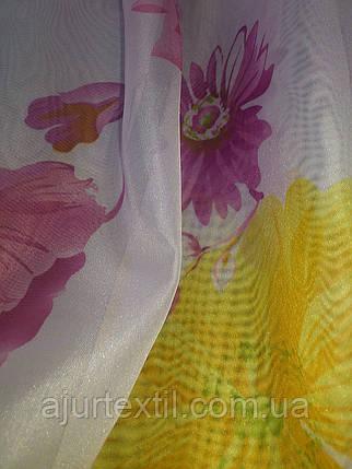 """Тюль печать""""Цветы лета"""", фото 2"""