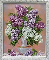 Картины художников. Живопись маслом цветы «Сирень в вазе». Декорирование дома.