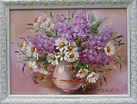 Картины художников. Живопись маслом цветы Ромашки. Декорирование дома.