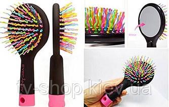 Расческа с зеркалом для объема  Rainbow Volume Brush