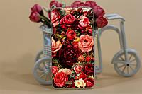 Чехол бампер для Explay Rio Гибкий пластик розы