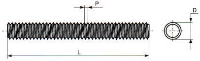 Чертеж шпильки DIN 975