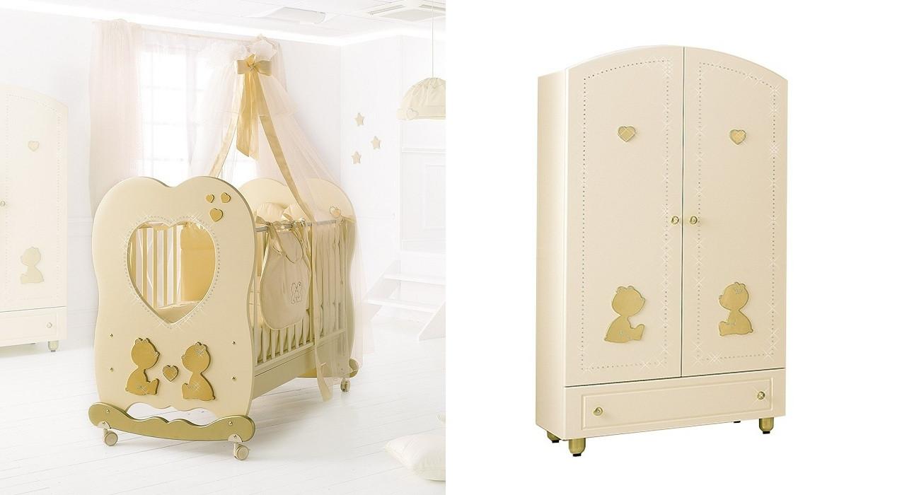 Комплект меблів для дитячої кімнати Baby Expert Cuore di mamma