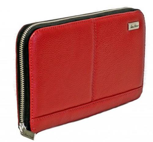 Экстравагантный кожаный клатч-кошелек ISSA HARA CL2 (15-00) красный