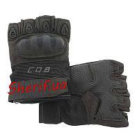 Перчатки тактические  CQB HF + плас. кост. Black 5789