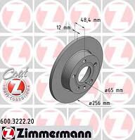 ZIMMERMANN - Тормозной диск задний Volkswagen Golf (Фольксваген Гольф) 1.6 Бензин/автогаз (LPG) 2009 - 2012 (600322220)