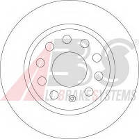 Abs - Тормозной диск передний Skoda Octavia (Шкода Октавия) 1.6 Бензин/автогаз (LPG) 2009 - 2012 (17522)
