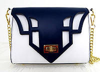 Стильная  женская сумочка 100% кожа Италия Белая