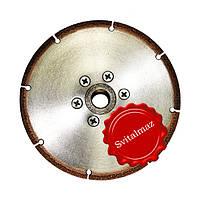 Алмазный круг с напылением для резки мрамора Ф115 мм. Инватех на фланце М14.