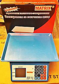 Весы электронные торговые MATRIX 40 кг (счетчик цены)