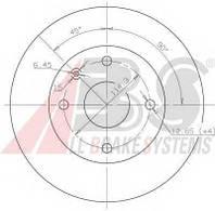 Abs - Тормозной диск передний DAEWOO MAGNUS 2.0 бензин 1999 -  (17414)