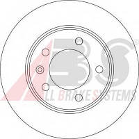 ABS - Тормозной диск задний Opel Movano (Опель Мовано) 2.2 Дизель 2000 -  (17331)
