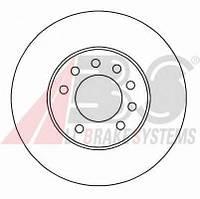 ABS - Тормозной диск передний OPEL MERIVA 1.4 Бензин/автогаз (LPG) 2004 - 2010 (16953)