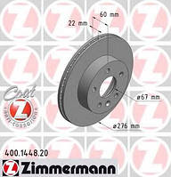 ZIMMERMANN - Тормозной диск передний Mercedes Vito (Мерседес Вито) 114 бензин 1996 - 2003 (400144820)