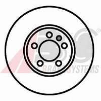 ABS - Тормозной диск передний Seat Toledo (Сеат Толедо) 1.9 Дизель 1999 - 2006 (16881)